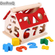 Wooden kids toys Blocks Number Figure House Children Building Educational  toy colorful-in Blocks from Toys & Hobbies on Aliexpress.com | Alibaba Group
