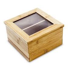 2 compartments wooden tea chest boxes tea bag display box organic tea gift set