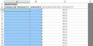 Inventario Excel Primera Parte Plantilla Inventario Excel Plantilla Excel