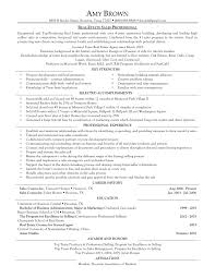 Agreeable Real Estate Resume Sample Free For Your The Real Estate