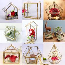 wholesale wedding garden geometric vase cheap glass terrarium