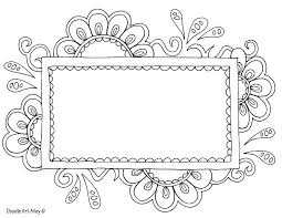 coloring picture frame template free printable templates photo
