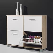 shoes storage furniture. Modern Shoe Storage Cabinet In Canadian Oak And White Shoes Furniture