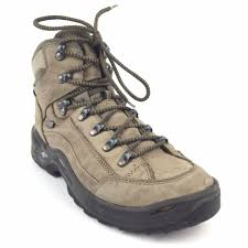 details about men s lowa renegade mid goretex brown leather hiking boots size 8 waterproof gtx