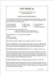 Resume Format For Medical Job Receptionist Resume Sample Resume Samples 8