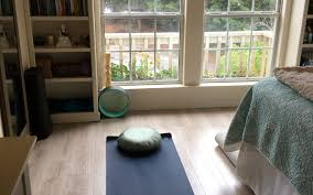 try this 3 step plan for a warm and inviting home yoga practice space