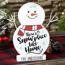 like home personalized wood snowman decorations wooden outdoor small snowmen made from wood