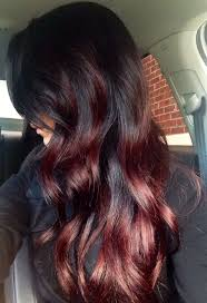 Black To Auburn Fall Ombre Hair