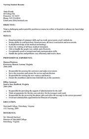 Fancy Resume Skills Nursing Student With Additional Nurse Student