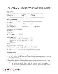 Artist Performance Agreement Template Opusv Co