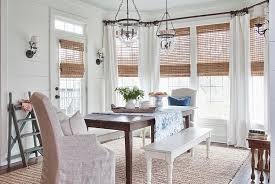 view in gallery natural woven wooden shades in the chic farmhouse dining room design milk honey