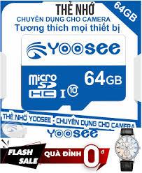 Quà Đỉnh 0đ ] Thẻ nhớ MicroSD YOOSEE 64GB C10 - Tặng đồng hồ đeo tay, giá  chỉ 139,000đ! Mua ngay kẻo hết!