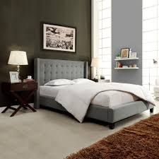 Full Upholstered Bed Frame Platform Bed Headboards Footboards Bedroom Furniture The