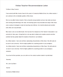 teacher letter of recommendation sample teacher letter of recommendation 8 examples in pdf word