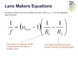 reflection mirrors ppt lens maker equation problem plano