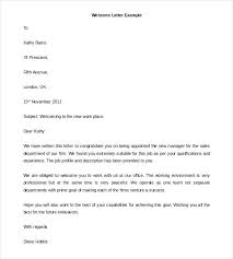 Welcome Letter Template New Hire Packet Employee Free Apvat Info