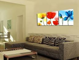 paintings for living room wallColorful Flowers Wall Stickers Painting for Modern Wall Art Decor