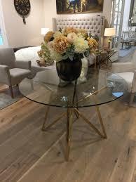 Runder Tisch Glas Metall Glastisch Rund Gold Esstisch Rund