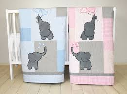 twin baby quilts pink blue twin crib bedding elephant kids blanket patchwork organic infant bedding