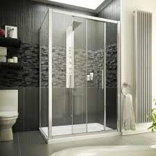 1200 x 900 8mm glass sliding door shower enclosure