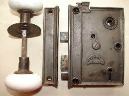 antique restoration hardware early rim lock 17
