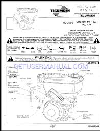 Tecumseh Snow Blower 110 User's Manual download free