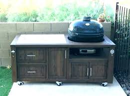 outdoor bbq prep table canada cart rolling creative path w h famous stainless steel kitchen