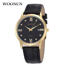 popular thin watches for men buy cheap thin watches for men lots woonun mens watches top brand luxury diamond leather band quartz wrist watches ultra thin watches for