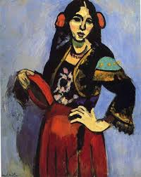 famous painting spanish woman with a tamborine of henri matisse