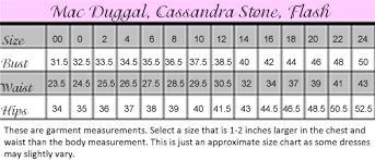 Mac Duggal Size Chart Best Picture Of Chart Anyimage Org
