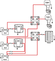 battery management wiring schematics for typical applications simple operation can parallel batteries for extra starting power 2 dual circuit plus battery switches 2 automatic charging relays