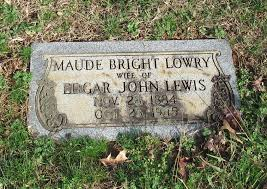 Maude Bright Lowry Lewis (1884-1945) - Find A Grave Memorial