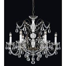 schonbek madison etruscan gold six light clear heritage handcut crystal chandelier 24w x 21 5h x 24d