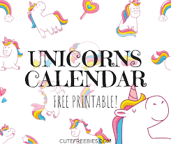 free calendar printable 2019 cute unicorn 2019 calendar free printable cute freebies for you