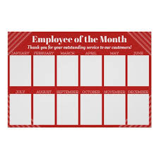 Emploee Of The Month Employee Of The Month Display For 4x6 Photos Poster