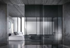 framed external wall sliding doors grey clear glass black anodized profiles built in sliding system