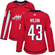 Washington Red Women's Wilson Home Jersey Premier Tom 43 Capitals Adidas Nhl