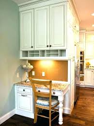 Kitchen Office Nook A Seamlessly Built In Office Nook In The Kitchen Interesting Kitchen Desk Ideas