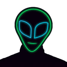 Light Up Alien Glowcity Light Up Alien Mask Great For Halloween Costume Partys Led Mask