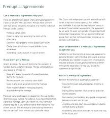 Prenuptial Agreement Template Word Basic Prenuptial