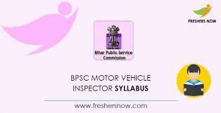 bpsc motor vehicle inspector syllabus