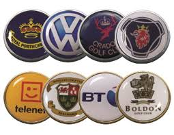 ball markers. 24mm flat resin ball marker markers