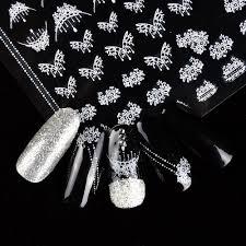 1 Fogli 3d Collana Di Modofiore Di Farfalla Disegni Per Unghie