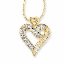 t w diamond i love you heart pendant in 10k