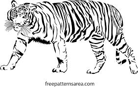 Free Scroll Saw Patterns Pdf Simple Tiger Vector Scrollsaw Pattern FreePatternsArea
