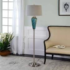 uttermost lighting floor lamps uttermost blue glass floor lamp decorations for wedding arch