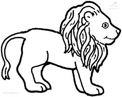 Kleurplaat Dieren Leeuw Kleurplaat Leeuw