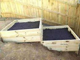 raised garden bed in slope area