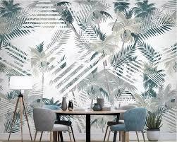 Beibehang <b>Wallpaper Custom</b> 3D <b>Nordic Tropical</b> Plant Coconut ...