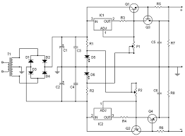power supply circuit archives page of power supply circuits symmetrical regulated power supply and variable 0 to 30v 2a